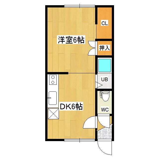 レストハウスコスモス 1-5号室 間取り図