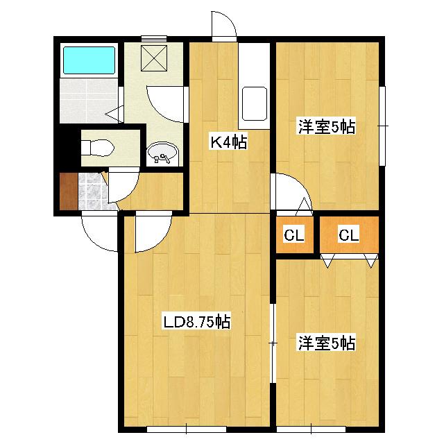 北央町サクセス 2-B号室
