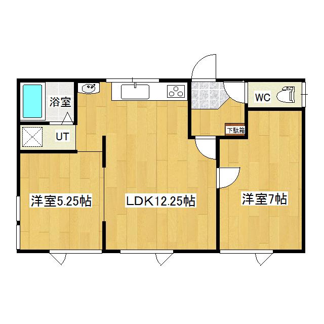 河合貸家(北央町) 2号室