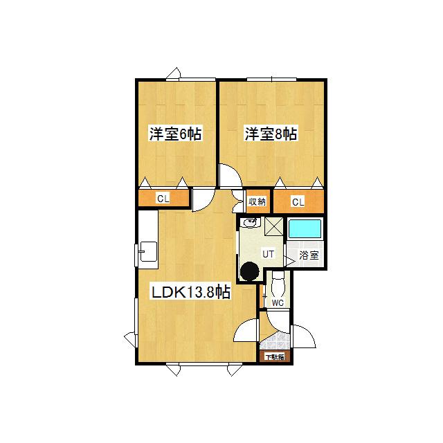 リバティノア 1-B号室