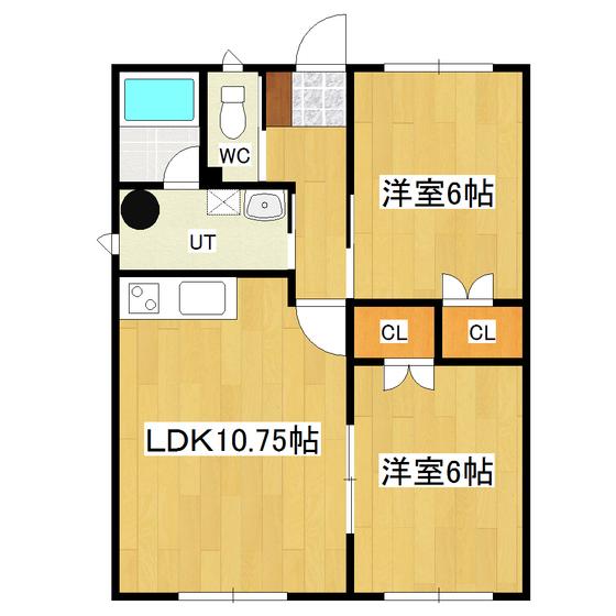 ビホロハイツ栄町B 102号室