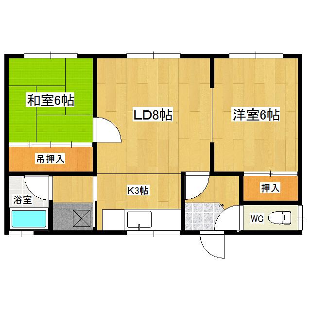 長野2戸借家(南町) 1号室