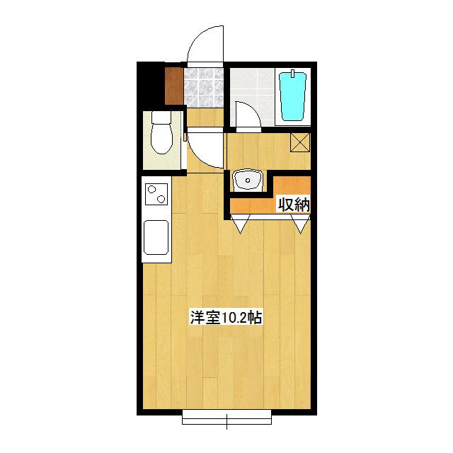 カレッヂタウンIII 205号室