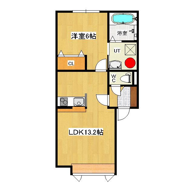ハピネスライト 1-C号室