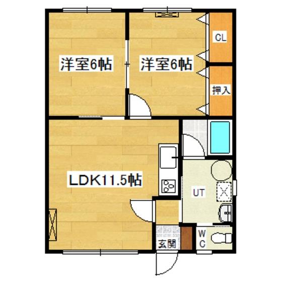 ビホロハイツ栄町A 201号室