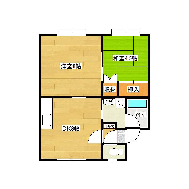 華奈ハイツ 2-A号室