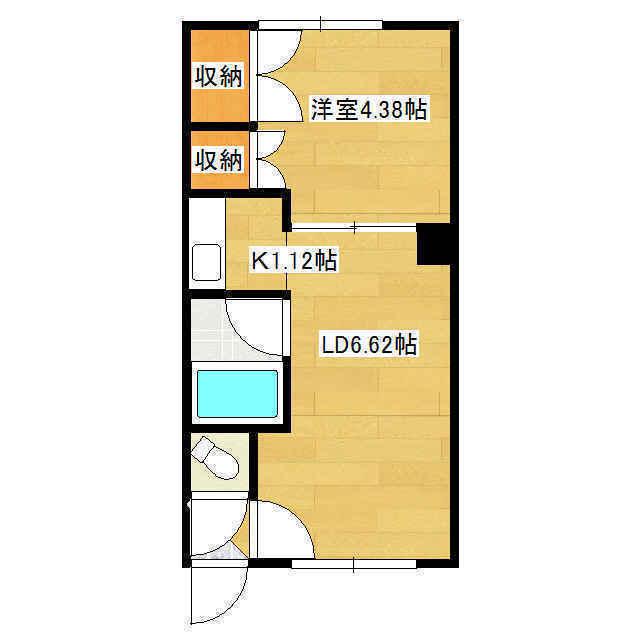 本町コーポ 1号室