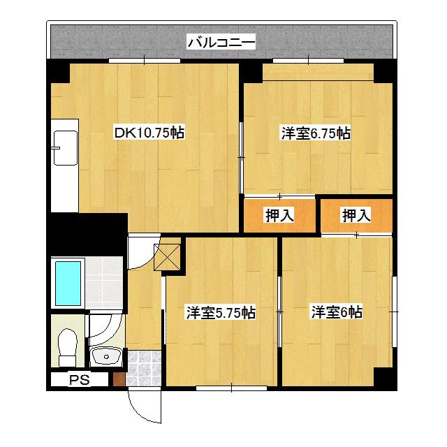 レジデンスコスモ 106号室