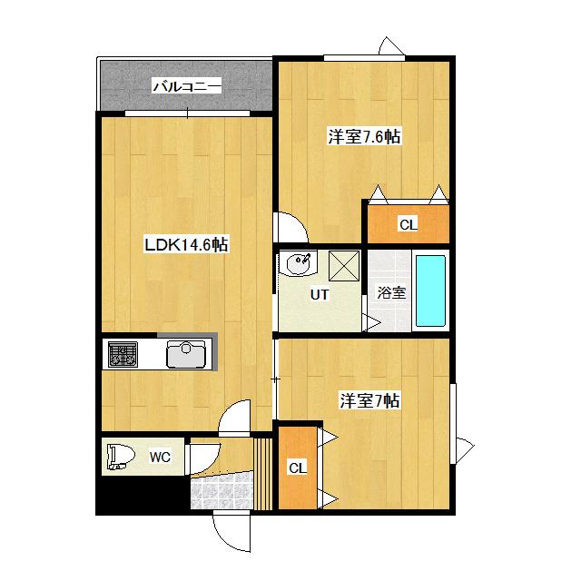 K'S SQUARE 2-H号室