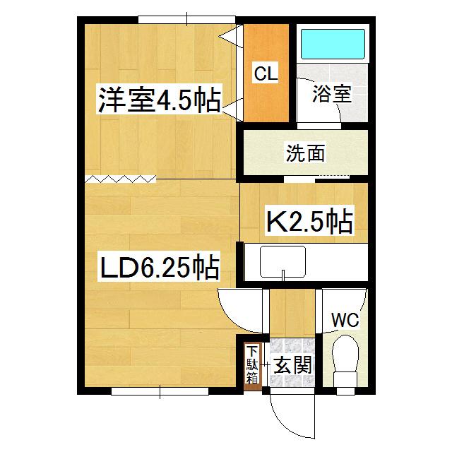 パークサイド司 102号室