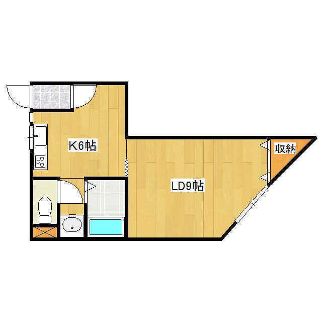 オリス山下B 202号室