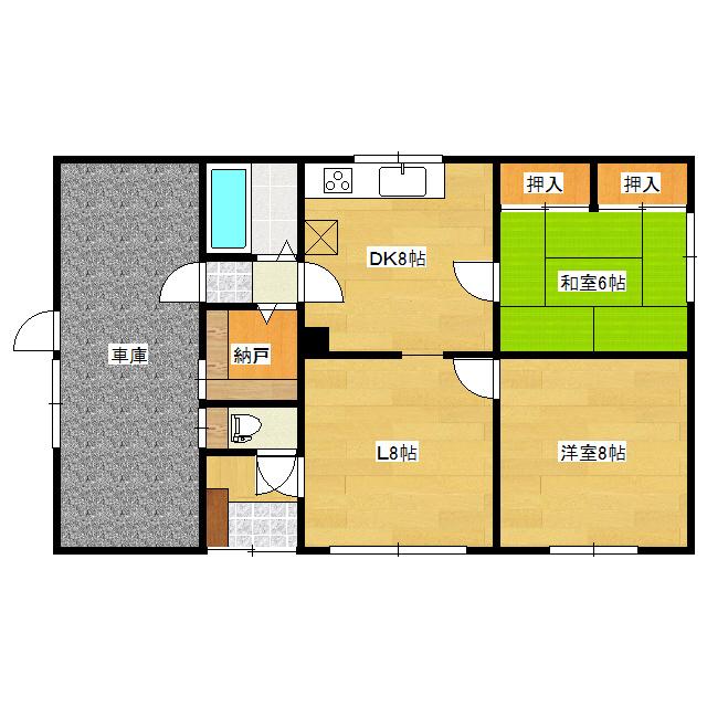 美園308−8貸家 1号室