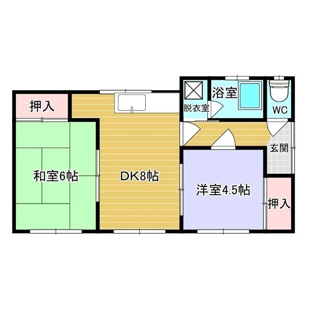 元町18番地56貸家2 1号室