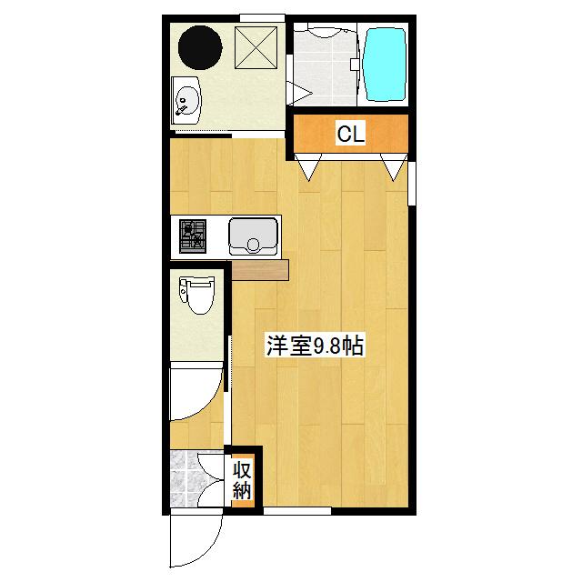Avenir II 1-F号室