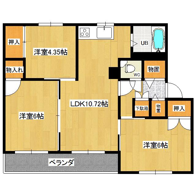クラージュ春光III 305号室