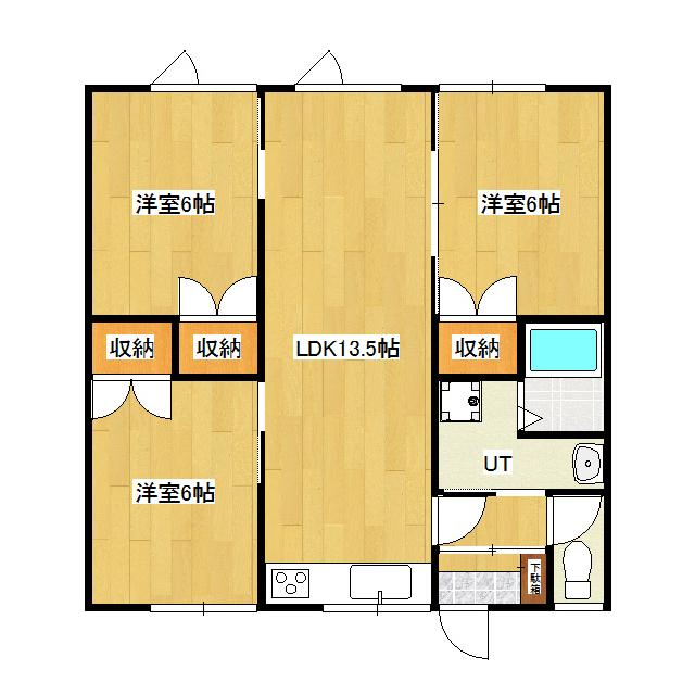 East side apartment I B号室