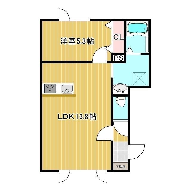 ココシャルム 1-A号室