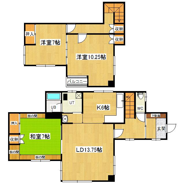 美芳7番地5貸家 1号室