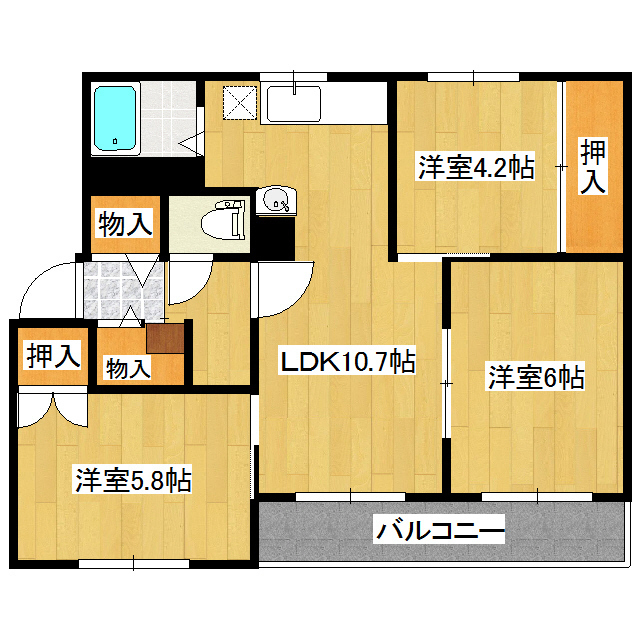 クラージュ春光II 401号室