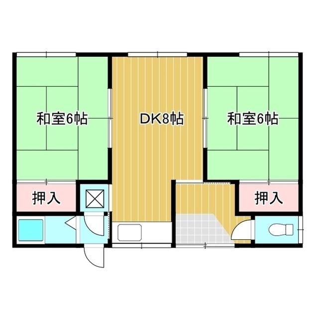 美芳町渋野邸貸家B 1号室