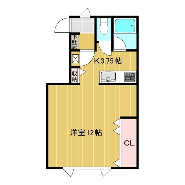 アパートメントM B号室