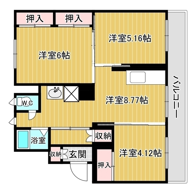 ヴィラナリー網走 C-12号室