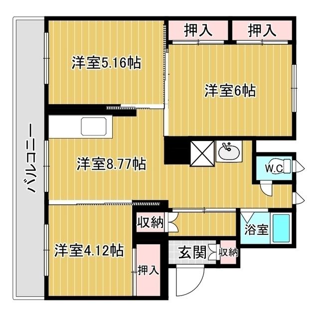 ヴィラナリー網走 C-13号室