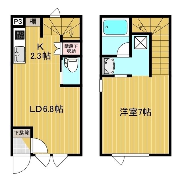 メゾネット北斗S&S 3号室