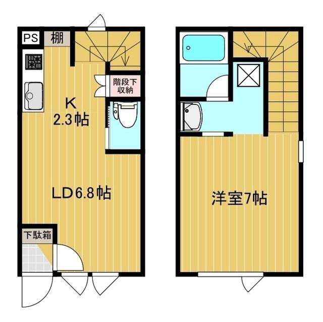 メゾネット北斗S&S 1号室