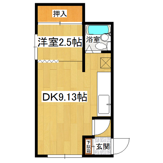 栄町1丁目9番地8貸室 1号室